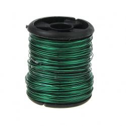 Тел медна 0.3 мм зелена ~9.5 метра