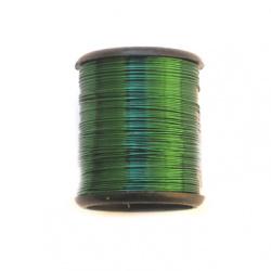 Тел медна 0.3 мм зелeна тъмно ~9.5 метра