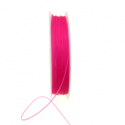 Beading Elastic Wire 0.6 mm pink dark ~ 7 meters