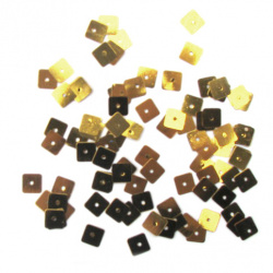 Sequins square 8 mm gold -20 grams