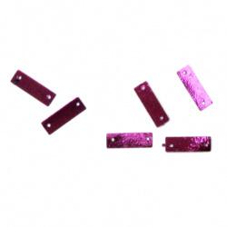 Paiete placă 20x7 mm două găuri violet -20 grame