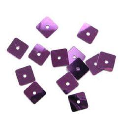 Paiete pătrate 8 mm violet deschis -20 grame