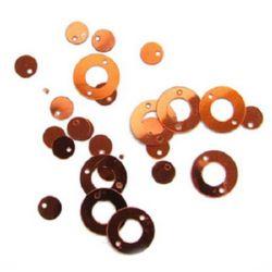 Paiete cerc cu un cerc de 12x6 mm portocaliu -20 grame