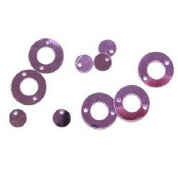 Paiete cerc cu un cerc 12x6 mm violet -20 grame