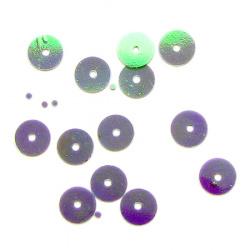 Paiete rotunde plate 8 mm violet deschis -20 grame