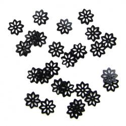 Пайети цвете 10 мм с дупкаи черни -20 грама