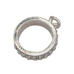 Висулка кръг 23x29x6.5 мм метал с кристали