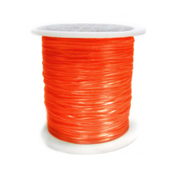 Elastic Fibre Wire, Dyed 0.8mm orange ~ 11m dark