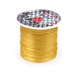 Ελαστικό κορδόνι σιλικόνης 0,8 mm χρυσό ~ 11 μέτρα/ καρούλι