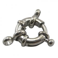 Закопчалка тип карабинка 10x4 мм с халки цвят сребро