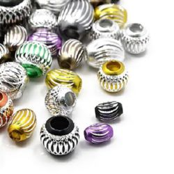 Margele de aluminiu 9 ~ 16x6 ~ 17 mm gaura 2 ~ 7 mm ASORTATE forma-5 bucăți
