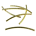 Metal Tube Beads, Curved Embossed 2x35 mm color gold -50 pieces