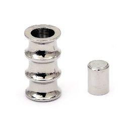 Магнитна закопчалка релеф 10x19 мм цвят сребро
