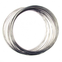 DIY Necklace Memory Wire 115x1 mm color silver -50 turns
