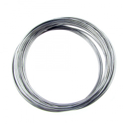 Bracelet Memory Wire 50x0.8 mm color silver -50 turns