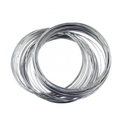 DIY Bracelet Memory Wire 60x0.8 mm color silver -50 turns ~ 39 grams