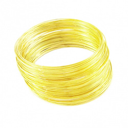 Memory wire for bracelets  0.6 x 55 mm gold
