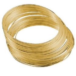 Jewellery Memory Wire for Necklaces 115x1 mm color gold -50 turns