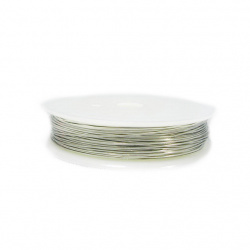 Медна тел 0.5 мм сребро ~10 метра