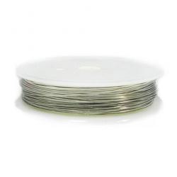 Медна тел 0.6 мм цвят сребро ~5 метра