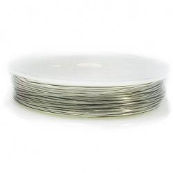 Медна тел 0.8 мм цвят сребро ~3 метра