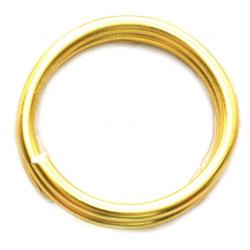 Тел алуминиева 1.5 мм цвят злато ~5 метра