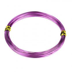 Тел алуминиева 1 мм цвят лилав тъмен -10 метра