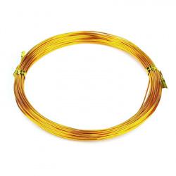 Σύρμα αλουμινίου 1 mm πορτοκαλί ανοιχτό -10 μέτρα