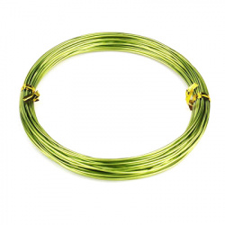 Σύρμα αλουμινίου 1 mm κιτρινοπράσινο -10 μέτρα