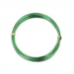 0.8 mm aluminum wire green light ~ 10 meters