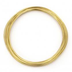 Sârmă aluminiu 0,8 mm culoare auriu ~ 10 metri
