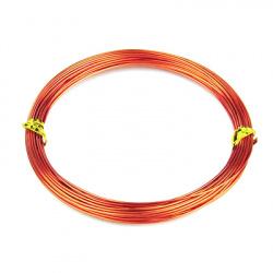 Тел алуминиева 0.8 мм цвят оранжев тъмен -10 метра