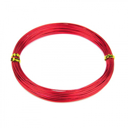 Aluminum wire 0.8 mm color red -10 meters