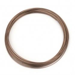 Тел алуминиева 0.8 мм цвят кафяв ~10 метра