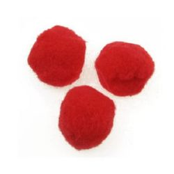 Помпони 45 мм червени -10 броя