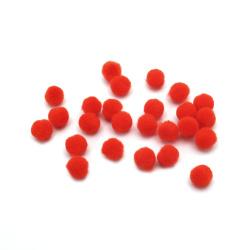 Помпони 6 мм оранжеви тъмно -50 броя