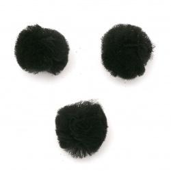 Помпони тюл 20 мм цвят черен -10 броя