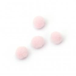 Помпони 0.6 мм розови бледо първо качество-50 броя