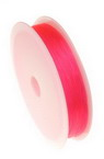 Stretchy Beading Elastic Wire Roll, 0.8 mm transparent pink ~ 10 meters
