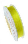 Stretchy Beading Elastic Wire Roll, 0.6 mm yellow ~ 13 meters