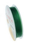 Stretchy Beading Elastic Wire Roll, 0.6 mm green ~ 13 meters