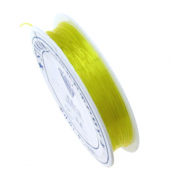 Stretchy Beading Elastic Wire 0.8 mm clear yellow ~ 10 meters