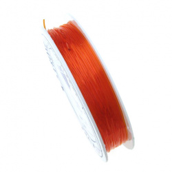 Stretchy Beading Elastic Wire 0.8 mm transparent orange ~ 10 meters