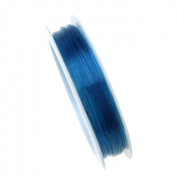 Stretchy Beading Elastic Wire 0.8 mm clear blue ~ 10 meters
