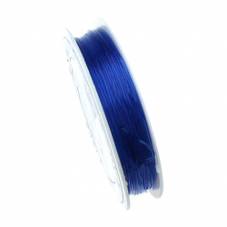 Stretchy Beading Elastic Wire 0.8 mm transparent blue ~ 10 meters dark