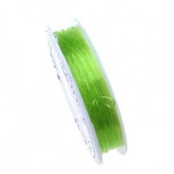 Stretchy Beading Elastic Wire 0.8 mm clear green light ~ 10 meters