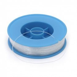 Roll Jewelry Nylon Wire, Beading Thread, Clear 0.30 mm ~ 90 meters