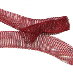 Ширит плетен тел медна 20 мм червен