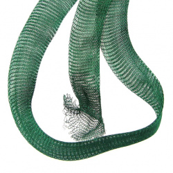 Ширит плетен тел медна 20 мм зелен