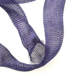 Ширит плетен тел медна 20 мм лилав тъмно
